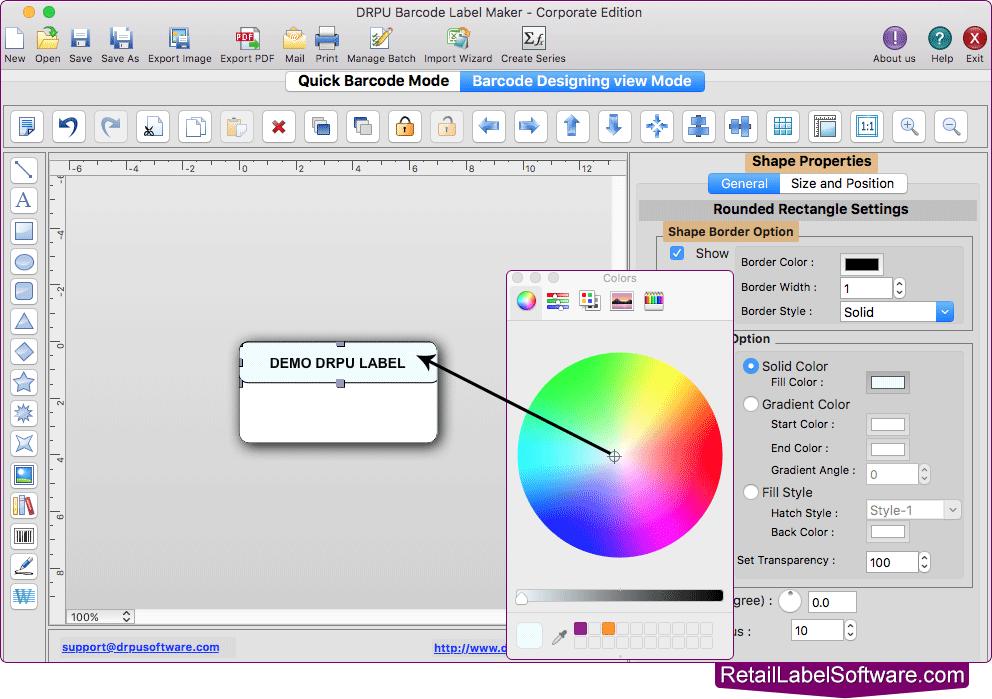 Mac Barcode Label Software - Corporate Edition screenshots